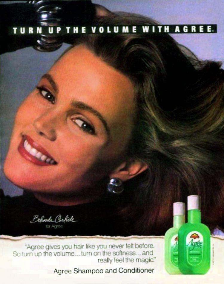 Belinda Carlisle for Agree Shampoo 1988