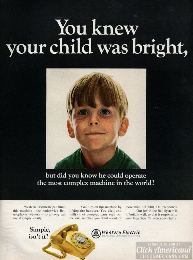 Bell telephone bright child 1968