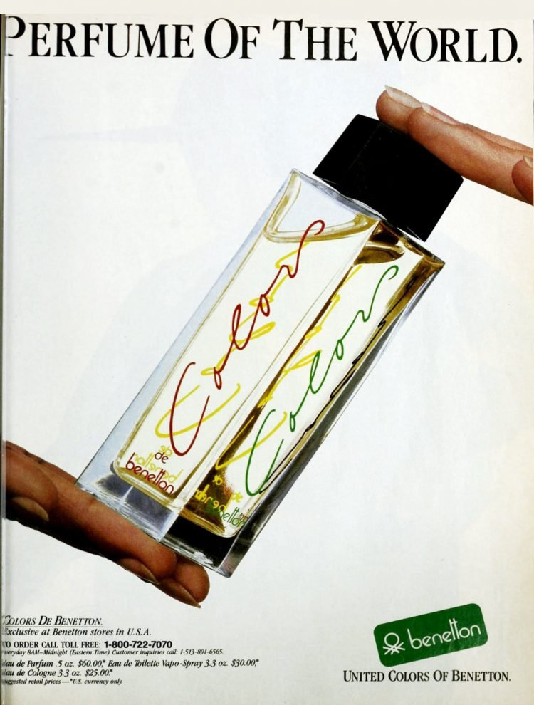 Benetton Colors vintage perfume from the 80s