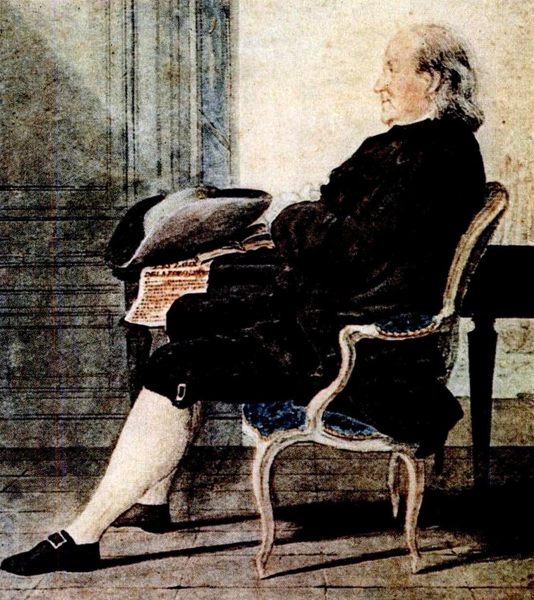 Benjamin Franklin seated portrait