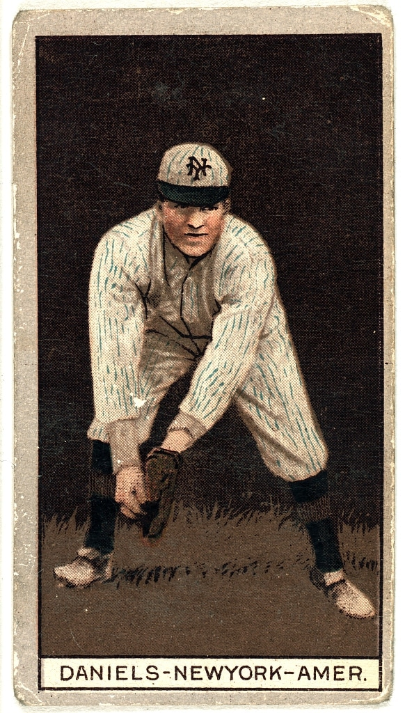 Bert Daniels, New York Highlanders, baseball card portrait 1912