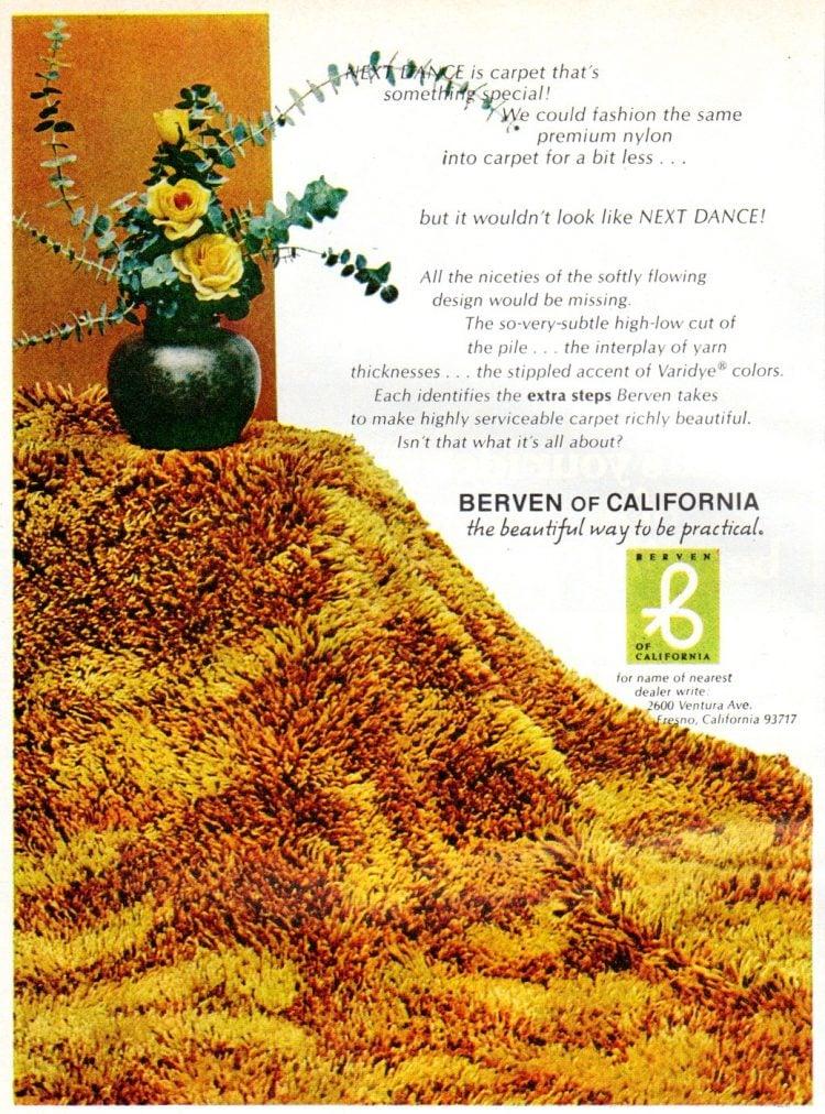 Berven shag carpet from 1972