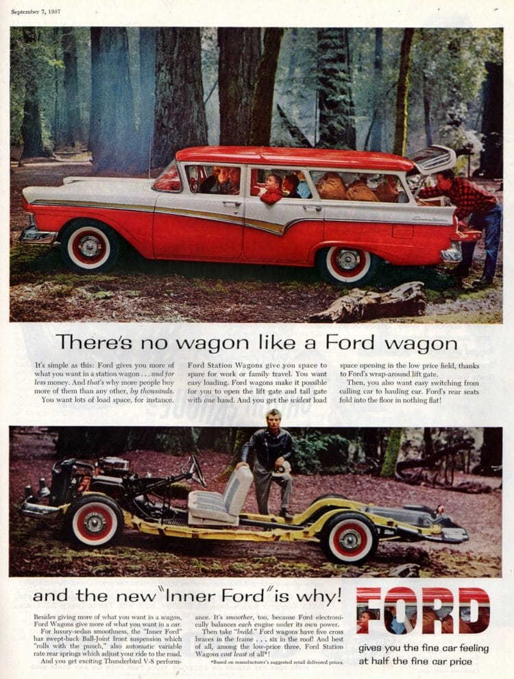 Best ride on the range Ford's new glamour wagons 1957 1958 (2)