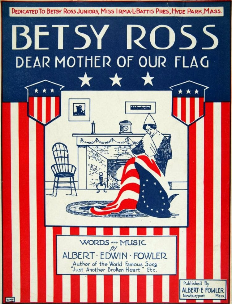 Betsy Ross - dear mother of our flag - Vintage sheet music