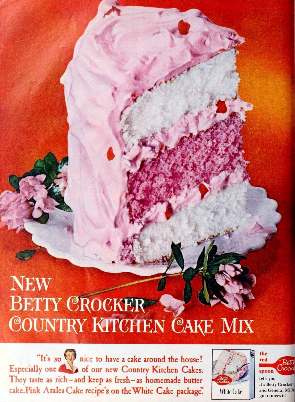 Betty Crocker Country Kitchen cake mix (1960)