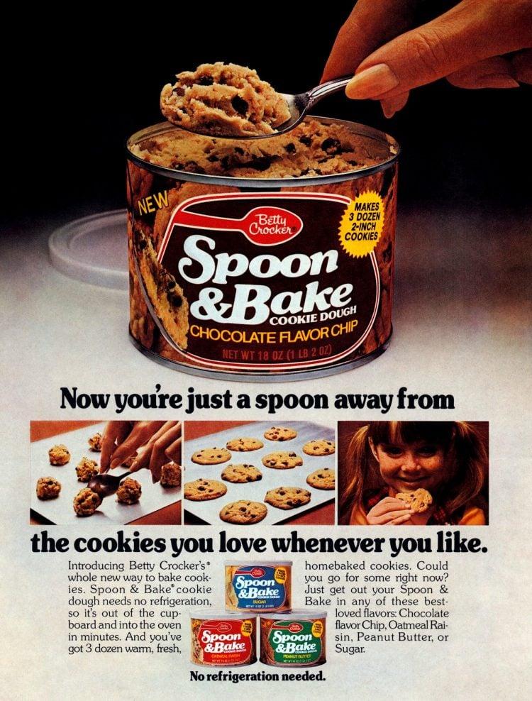 Betty Crocker Spoon & Bake canned cookie dough - 1975
