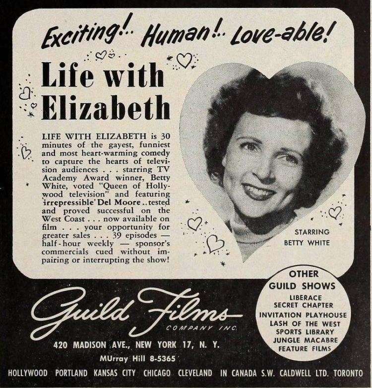 Betty White - Life with Elizabeth in 1954