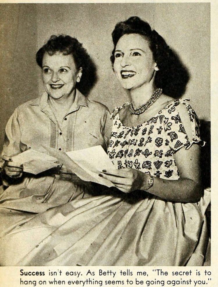 Betty White and her mom in 1954