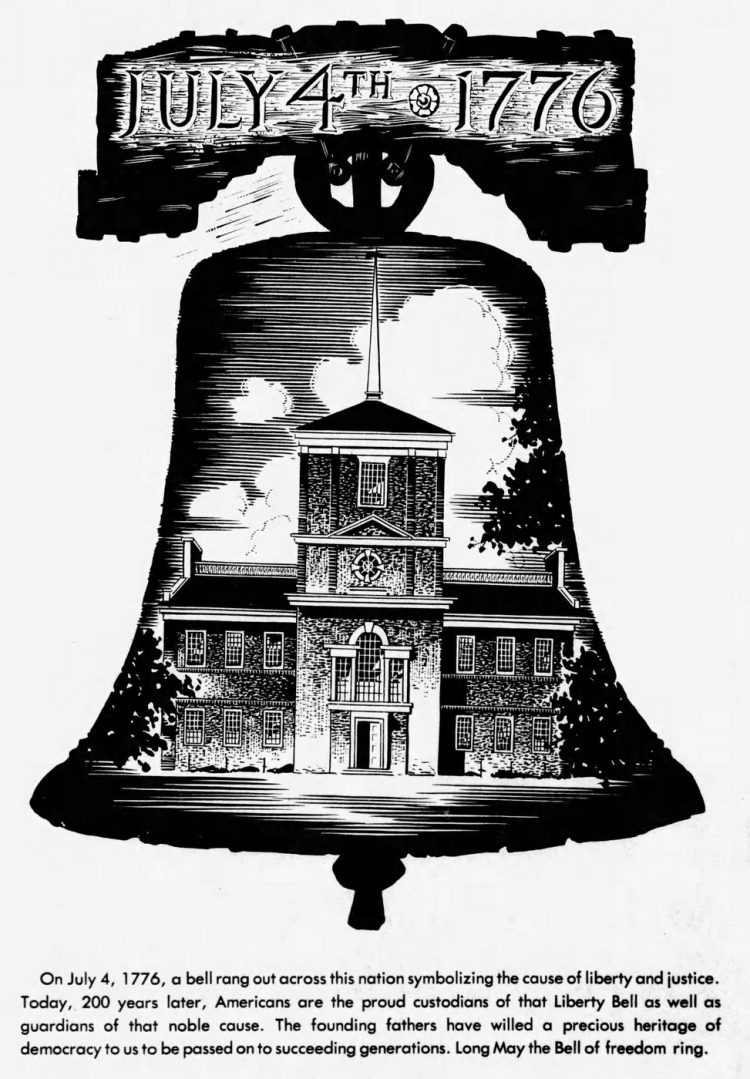 Bicentennial Liberty Bell artwork