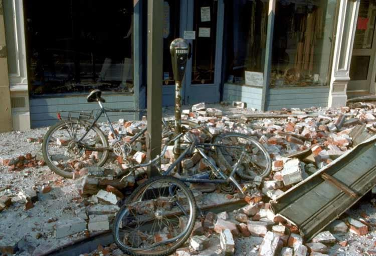 Bicycles Crushed by Brick C.E. Meyer, U.S. Geological Survey
