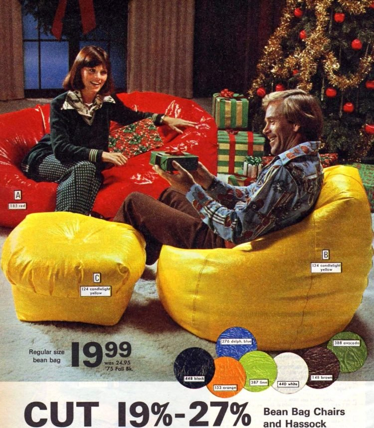 Big '70s bean bag chairs