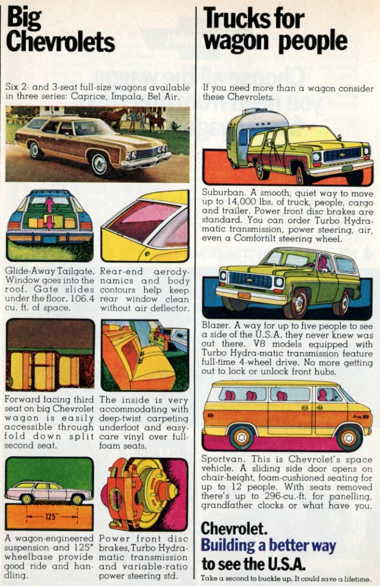Big Chevrolets & Trucks for wagon people