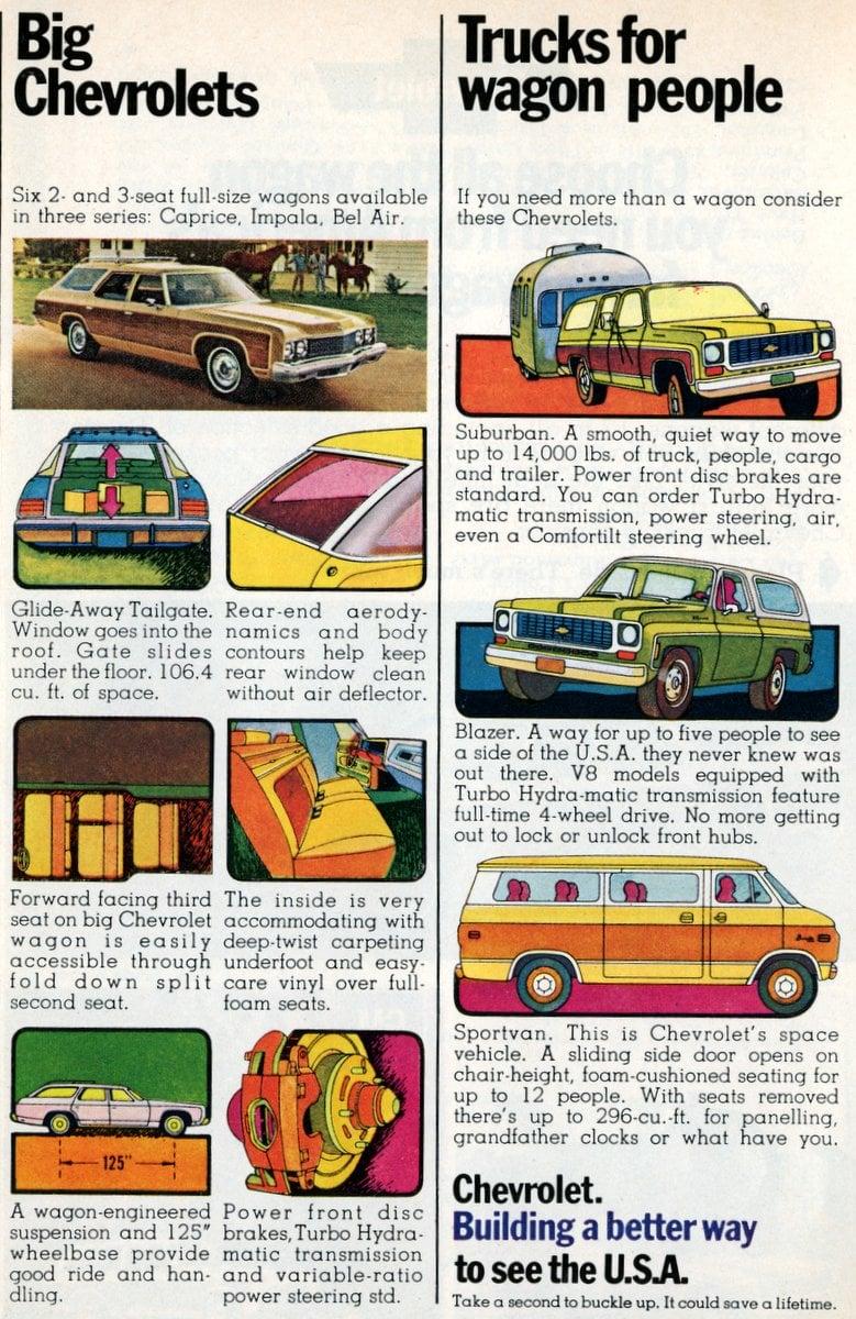 Big Chevrolets & Trucks for wagon people