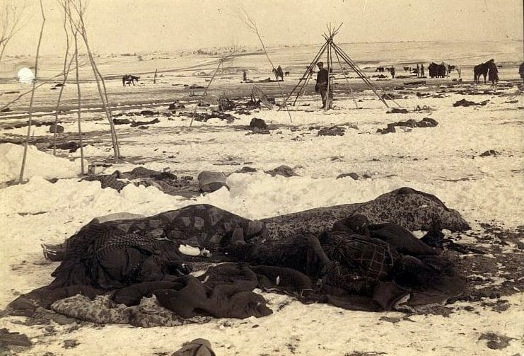 a report on the battle at wounded knee Wounded knee massacre- december 29, 1890: the massacre of american indians, sioux, at wounded knee, was a white supremacist barbarity.