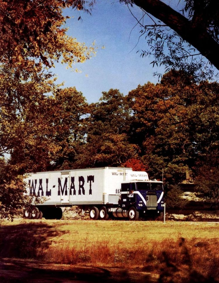 Big Wal-Mart delivery truck in 1980
