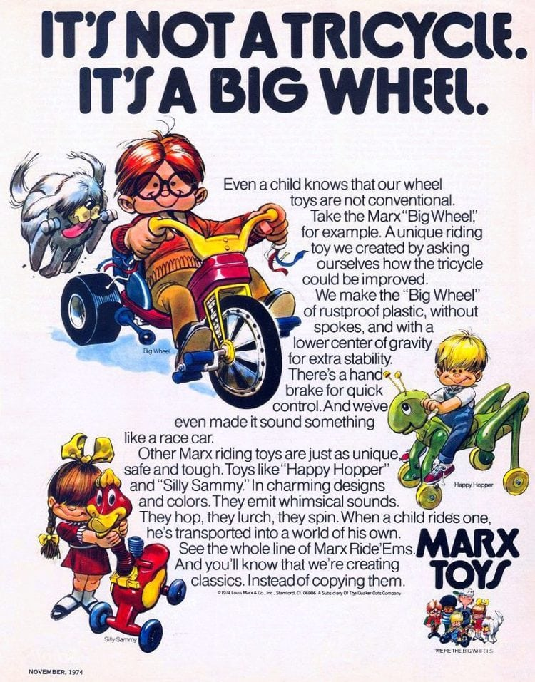 It's not a tricycle - it's a Big Wheel - 1974