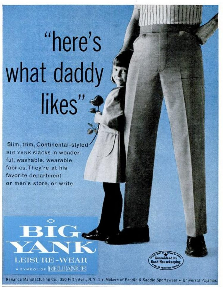 Big Yank clothing for men from 1960