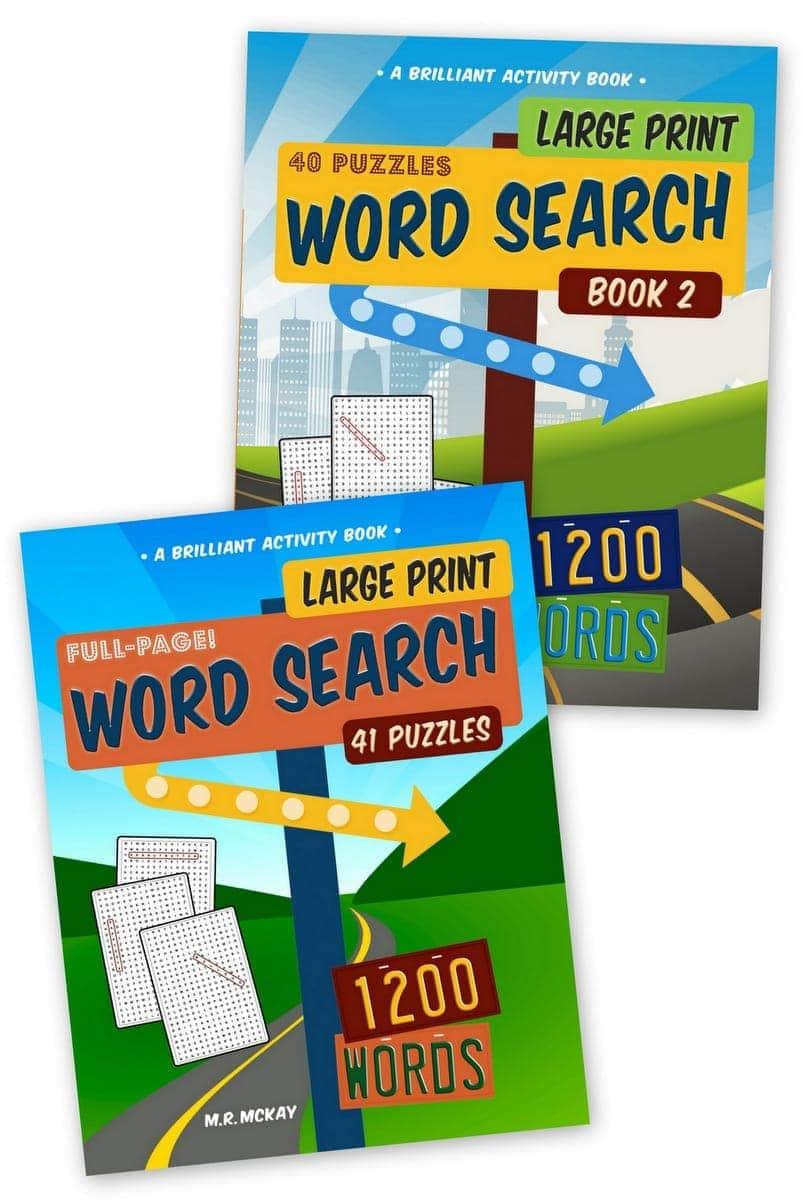 Big fun - Large print word search puzzles
