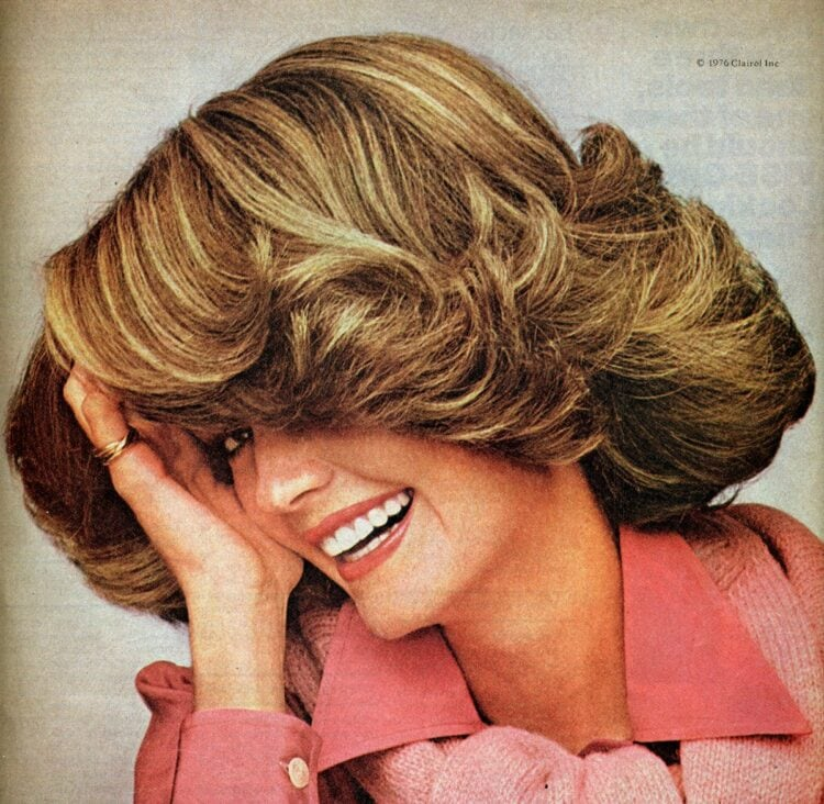 Big hair - vintage hairstyles from 1976