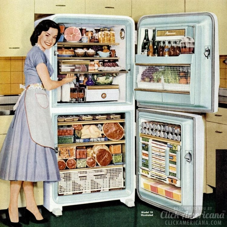 Big refrigerator-freezer from 1956 - kitchen