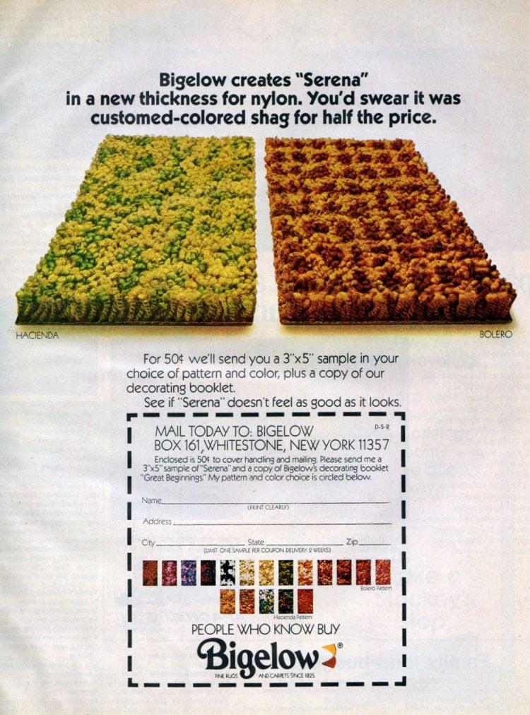 Bigelow Serena shag carpet from 1972
