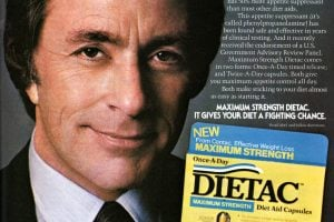Bill Bixby ad for Dietac diet pills -1982