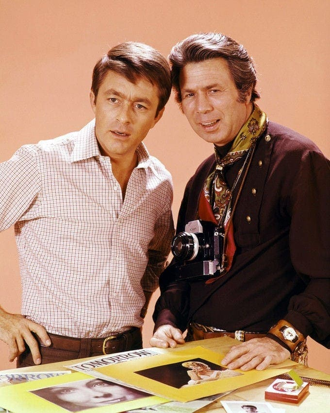 Bill Bixby and James Komack as Norman Tinker - The Courtship Of Eddie's Father