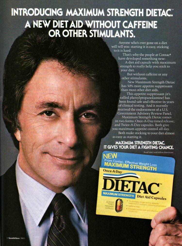 Bill Bixby for Dietac diet pills - 1981