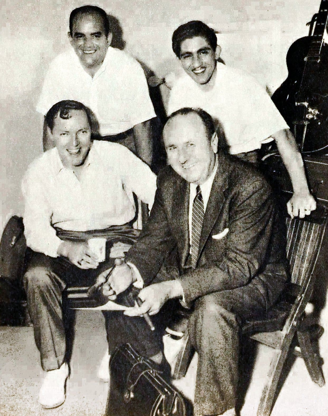 Bill Haley and manager Jim Ferguson