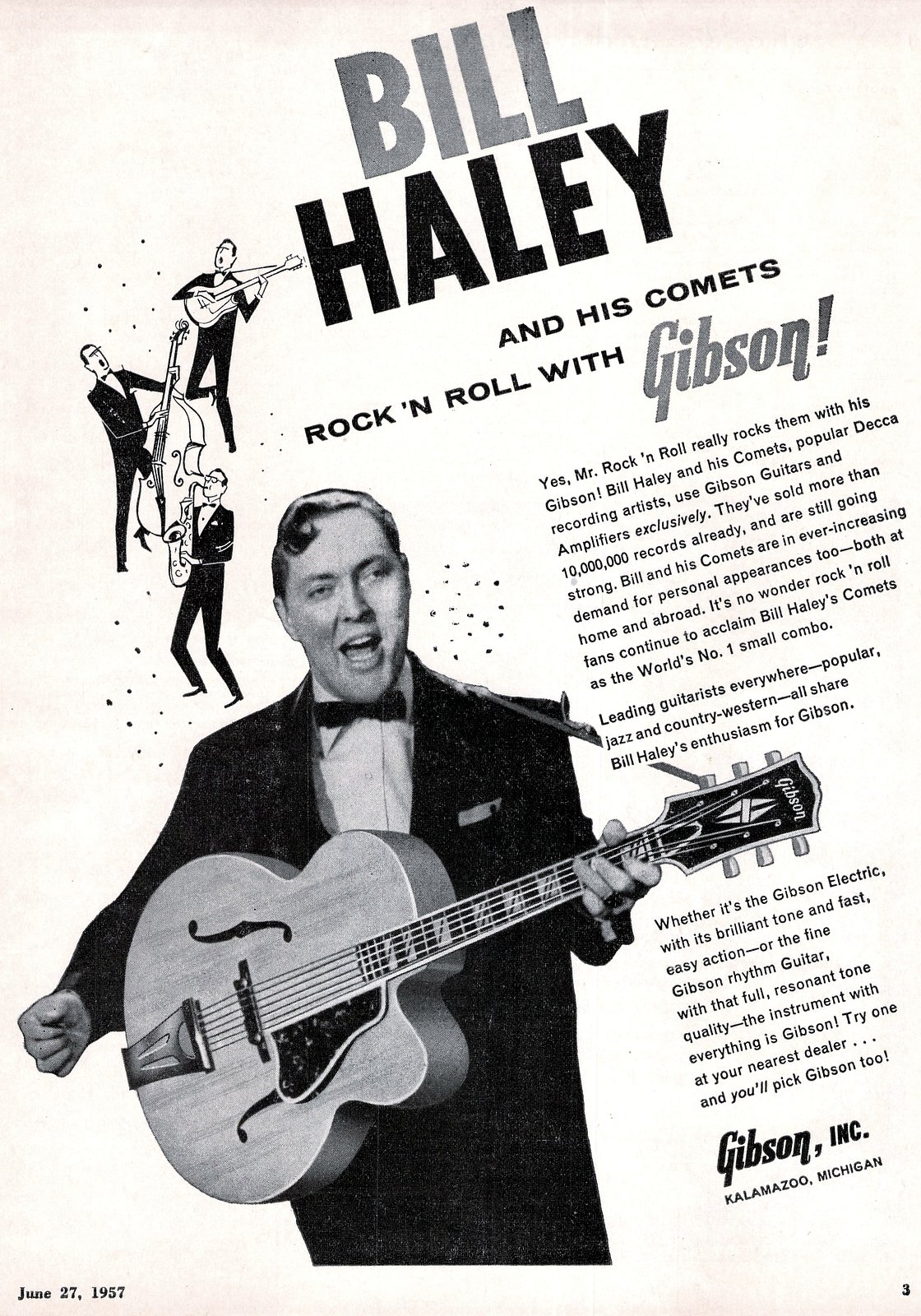 Bill Haley for Gibson guitars (1957)