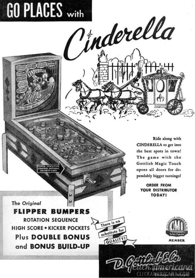 Cinderella pinball machine (1948)