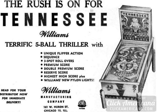 Tennessee pinball machine (1948)