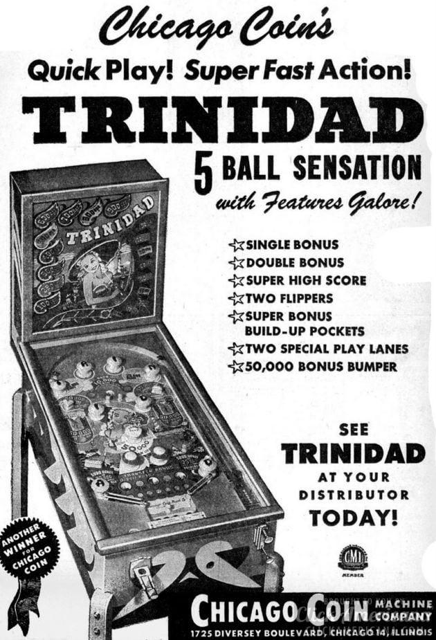 Trinidad pinball machine