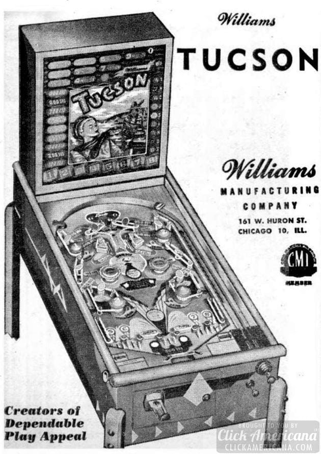 Tucson vintage pinball machine