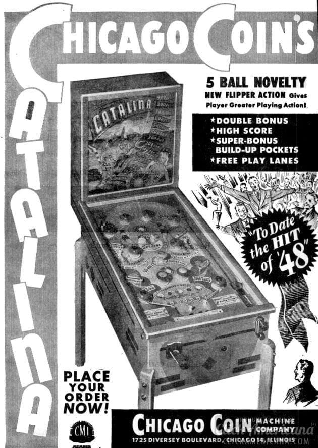 Catalina vintage pinball machine
