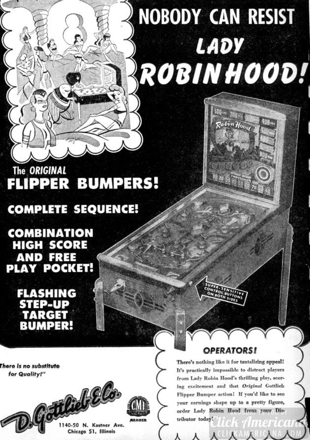 Lady Robin Hood pinball game