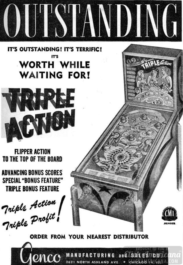 Triple Action arcade game