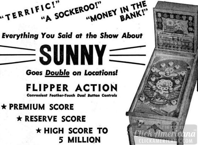 Sunny pinball games