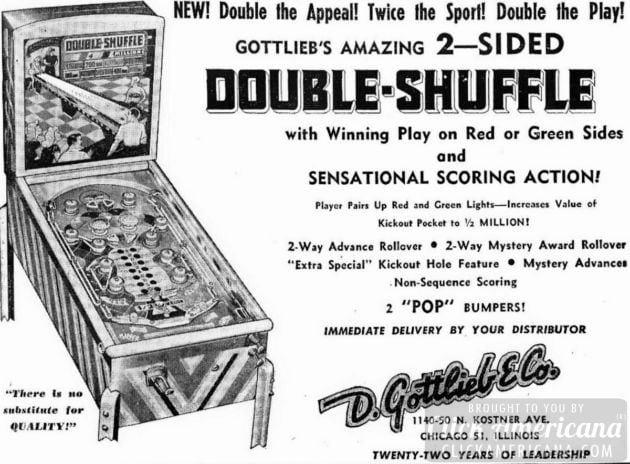 Double Shuff pinball game