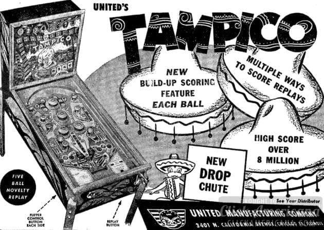 Tampico pinball game