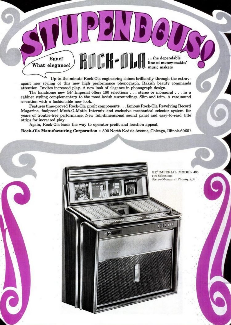 Billboard Jun 25, 1966 rock ola jukebox