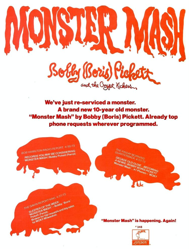 Billboard May 12, 1973 Monster Mash reissue