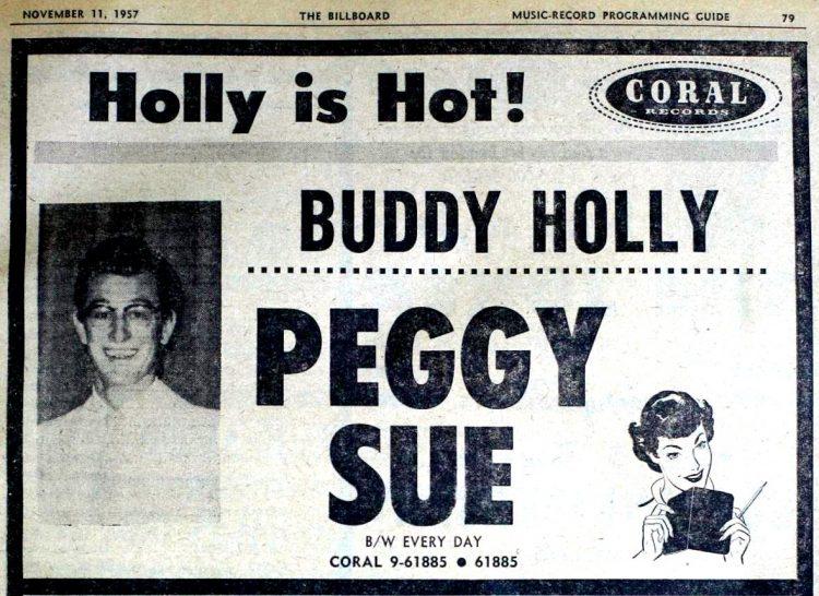 Billboard Nov 11, 1957 Buddy Holly Peggy Sue