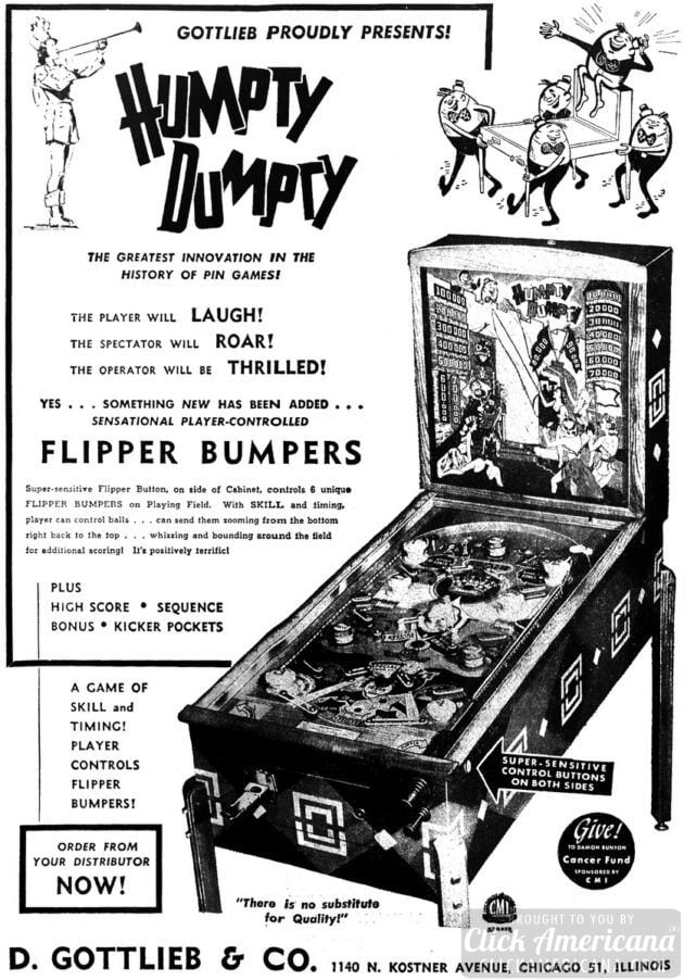 Humpty Dumpty pinball game