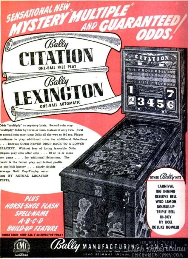 Bally vintage pinball machines
