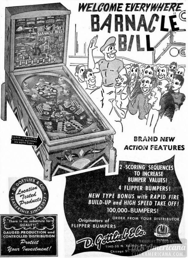 Barnacle Bill pinball machine