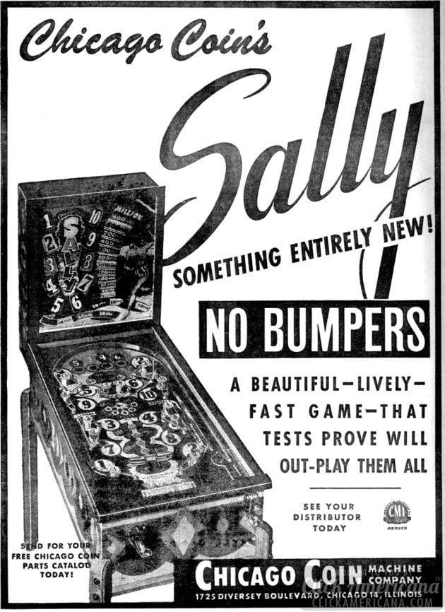 Sally pinball machine