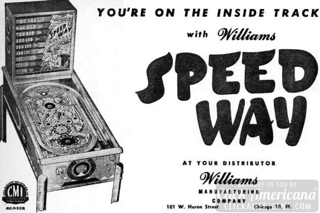 Speedway arcade game
