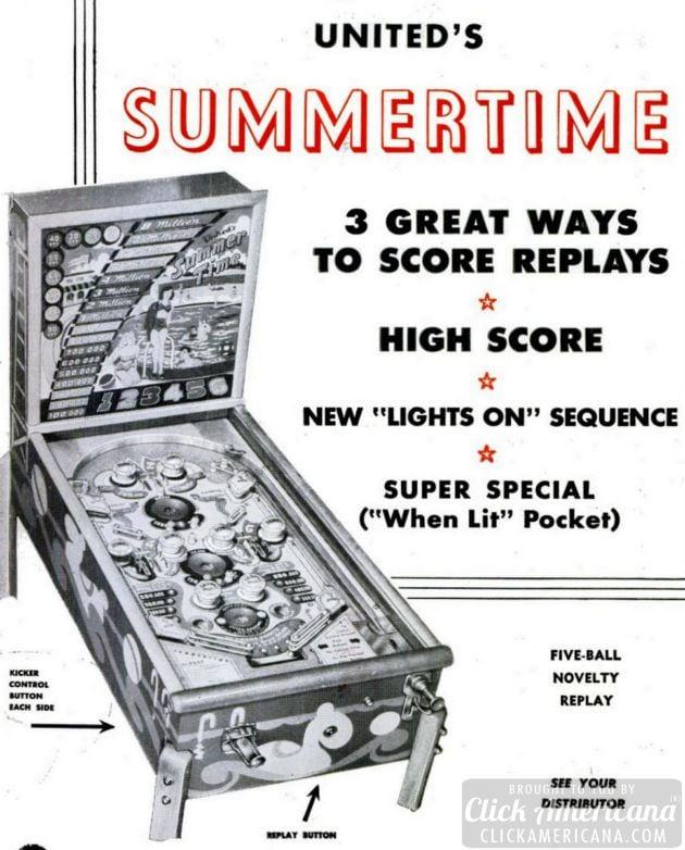 Summertime pinball game