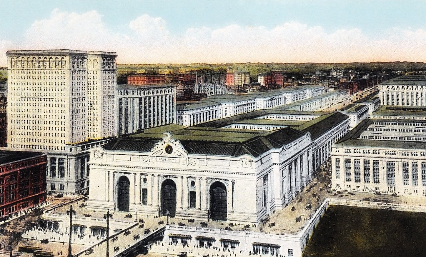 Bird's eye view of Grand Central Terminal, New York City